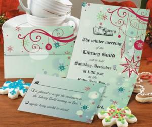 Seasons Silhouette Fold-Up Invitations