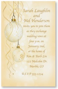 Glistening Light Specialty Flat Invitations