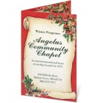 Christmas Scroll Programs by PaperDirect