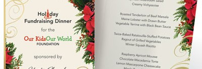 Poinsettia Swirl Specialty Programs by PaperDirect