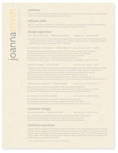 Resume stock paper
