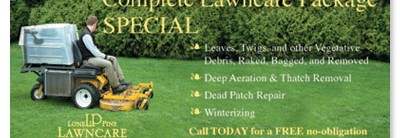 Lawn Mowing Oversized Postcards