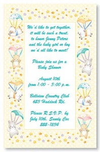 6 irresistible baby shower invite ideas paperdirect blog nothing beats traditional graphics like baby bottles and rattles or even filmwisefo
