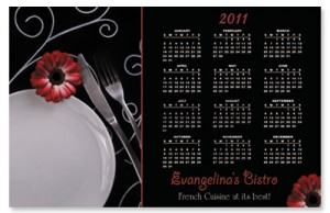 2011 Dinner Table Magnetic Calendars