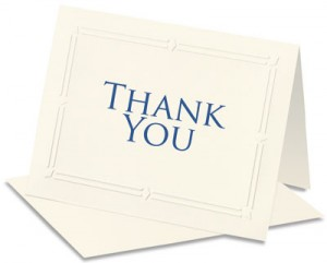 thank you card samples