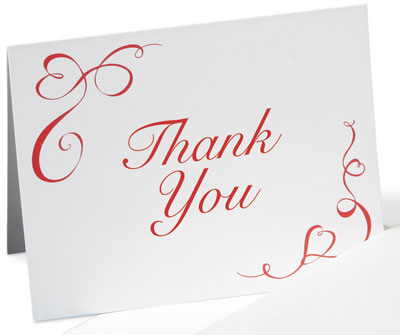 Proper Wedding Thank You Card Wording Etiquette Ribbon Of My Heart Notecards