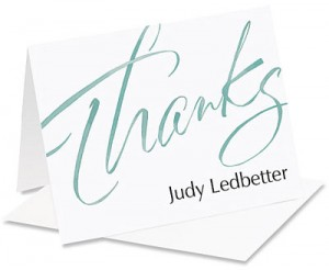 Thanks Personalized NoteCards