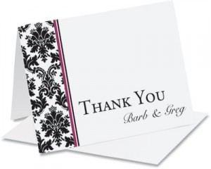 Patterned Thank You NoteCards