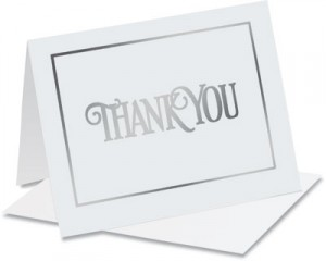 Elegant Thank You Specialty NoteCards™