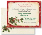 Old Fashioned Holly Christmas Postcards by PaperDirect