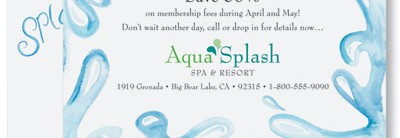 Aqua Splash PostCards