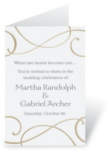 Proper wording for wedding programs make ms manners happy
