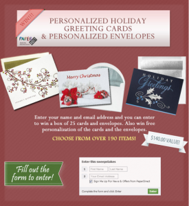 Personalized Holiday Cards from PaperDirect
