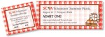 Picnic II Tear-Off Tickets by PaperDirect