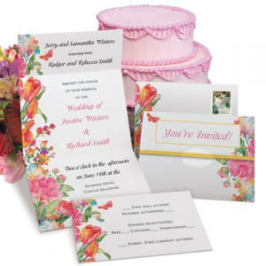 Pretty Petals Fold-Up Invitations by PaperDirect