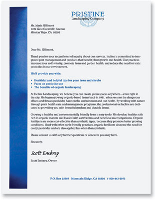 Formal Letter On Letterhead Kasare Annafora Co