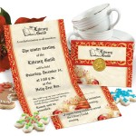 Radiant Merriment Fold-Up Invitations by PaperDirect