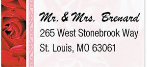 Red Red Rose Mailing Labels