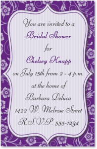 Delightful Purple Casual Invitations by PaperDirect