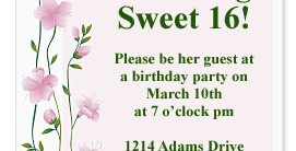 Sweet Sensation Casual Invitations