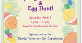 Painted Eggs Casual Invitations