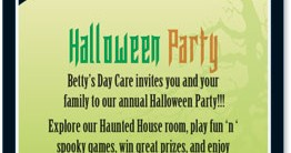 Haunted Hill Halloween Postcard Invitations