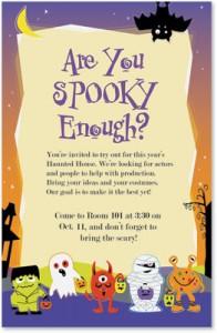 Spooky halloween birthday invitations paperdirect blog good ghost casual invitations haunted filmwisefo Images