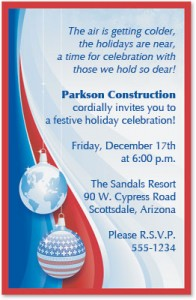 Patriotic Christmas Casual Invitations by PaperDirect
