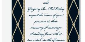 Supreme Black Flat Invitations