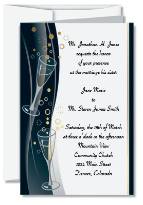 Wedding invitation wording for complex relationships paperdirect blog bubble bash invitation papers stopboris Images