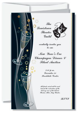 bubble bash flat invitation