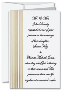 Great Cascade Specialty Folded Invitations. If Christian Wedding Invitation  Wording ...