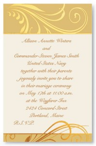 Wedding invitation wording for military titles paperdirect blog wedding wording etiquette pristine flat invitations when filmwisefo