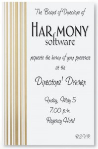 Cascade Specialty Flat Invitations by PaperDirect