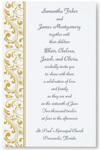 Timeless Elegance Flat Invitations Wedding Invitation Packages Are Typically Put