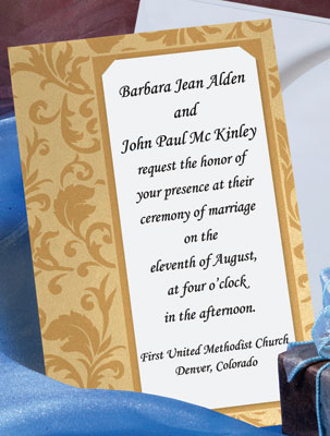 types of wedding invitations how about a layered invitation