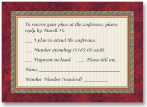 Formal Party Reception Cards