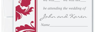 Jardin Reception Cards by PaperDirect