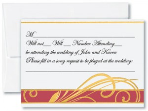 Stylish Reception Card by PaperDirect