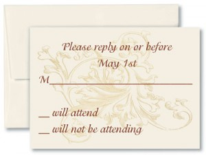 Wedding response card wording for diy weddings paperdirect blog most brides ask that their replies be r eturned stopboris Images