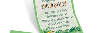 Rain Forest Fold Up Invitations