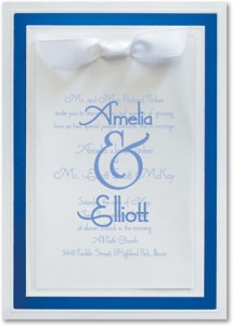 Pristine Vellum Specialty Layered Invitations