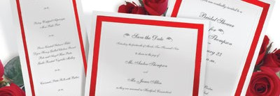 Pristine Red Invitations