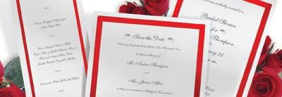 Pristine Red Invitations