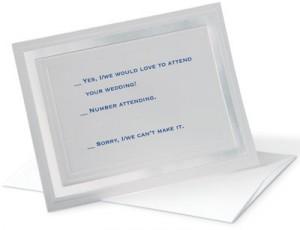 Word Wedding Invitation Response Card