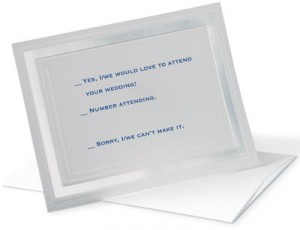Pristine Specialty Reception Cards by PaperDirect