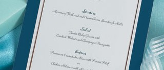 Imperial Flat Menu Cards