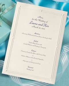 Wedding menu wording suggestions tips paperdirect blog templates are available for download junglespirit Image collections