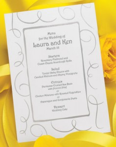 Wedding Menu Wording Suggestions & Tips | PaperDirect Blog ...