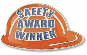 Safety Award Winner Recognition Pin